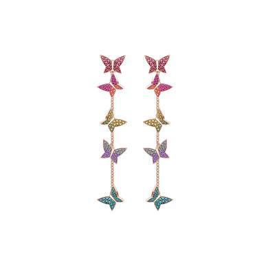 【支持購物卡】Swarovski施華洛世奇  LILIA 浪漫優雅蝴蝶造型設計耳環女耳飾 彩色5378693