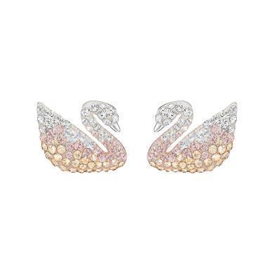 【支持購物卡】Swarovski施華洛世奇 Iconic Swan 漸變天鵝帶珍珠耳塞耳環 5215037
