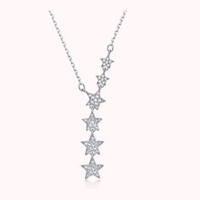 ARMASA阿瑪莎S925銀五角星星項鏈時尚流行飾品生日送女朋友