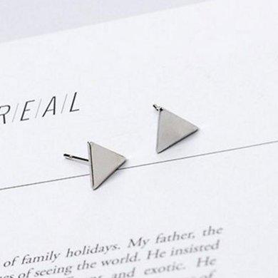 妍韻珠寶幾何三角形百搭耳釘KML00109銀色