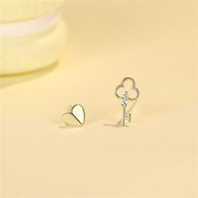 DTOTO 簡約心匙耳環耳釘秀氣靈動溫柔可人耳釘耳環女
