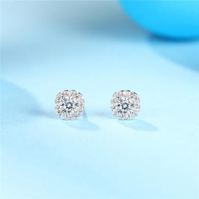 DTOTO 時尚韓國精品耳釘 飾品滿鑲鋯石超閃 保色電鍍 防過敏時尚耳釘