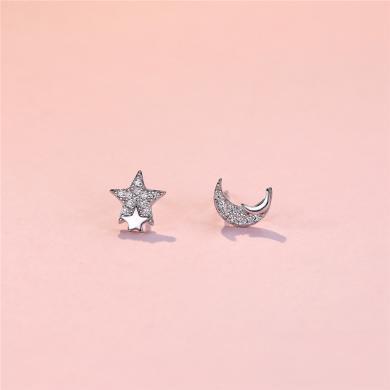 DTOTO 星月之戀耳釘簡約時尚清新甜美風耳環女