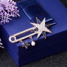 盈满堂 时尚新款满钻星星款胸针胸花配饰