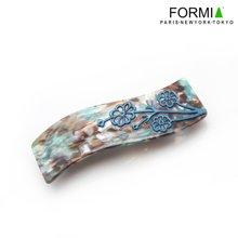 FORMIA芳美亞板材發夾平夾頂夾盤發頭飾  藍色