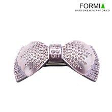 FORMIA芳美亞板材發夾平夾頂夾盤發頭飾甜美蝴蝶結發飾  紫色