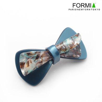 FORMIA芳美亞板材發夾平夾頂夾盤發頭飾蝴蝶結發夾  藍色