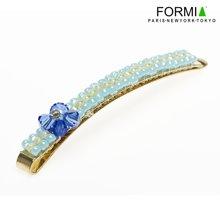 FORMIA/芳美亞 發夾發飾邊夾劉海夾頂夾手工活串珠發飾小清新HB71208 海藍之星