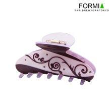 FORMIA芳美亞盤發抓夾發夾板材中號美麗花紋盤發夾 紫色