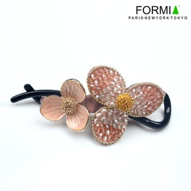 Formia芳美亞發飾飾品發夾八字夾扭扭夾馬尾夾盤發發夾HN6891005 粉橘色
