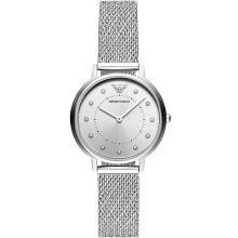【支持购物卡】Armani阿玛尼新款满天星手表女 时尚休闲镶钻编织钢带腕表AR11128