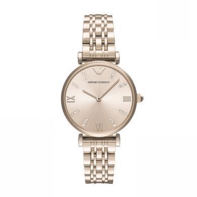 [支持购物卡]Armani阿玛尼满天星手表女 简约钢带女款手表石英腕表AR11059