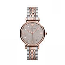 [支持购物卡]Armani阿玛尼满天星防水钢带手表女镶钻石英手表优雅石英表AR1840