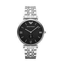 [支持購物卡]Armani阿瑪尼不銹鋼女款手表 銀色時尚大表盤石英腕表AR1676