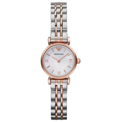 阿瑪尼(Emporio Armani)手表鋼制表帶時尚休閑簡約石英女士腕表AR1764