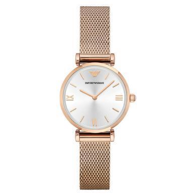 阿瑪尼(Emporio Armani)女士手表經典商務時尚簡約纖薄石英女表 鋼帶 AR1956