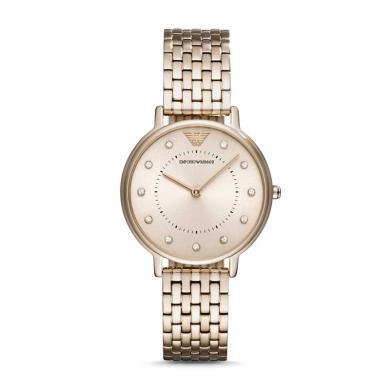 阿瑪尼(Emporio Armani)時尚休閑石英表鋼帶鑲鉆手表女AR11062
