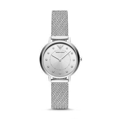 阿瑪尼(EmporioArmani)女士手表鋼帶 歐美簡約經典時尚休閑石英腕表AR11128