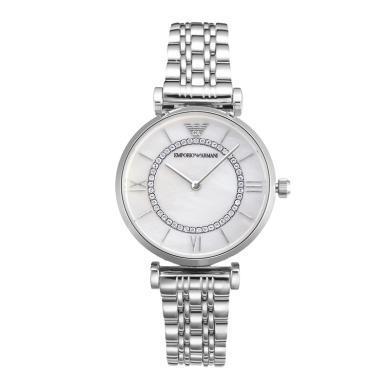 阿瑪尼(Emporio Armani)滿天星手表 鋼質表帶女士經典時尚休閑石英腕表 AR1908