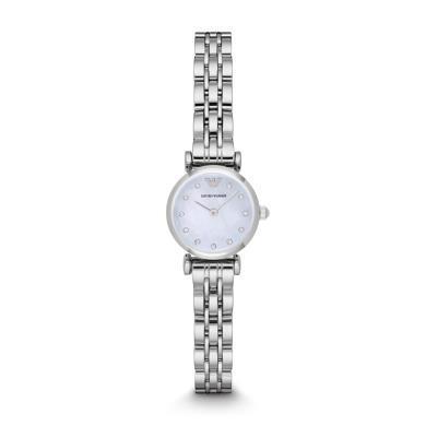 阿瑪尼(Emporio Armani) 手表 時尚鑲鉆小表盤石英鋼帶女表AR1961