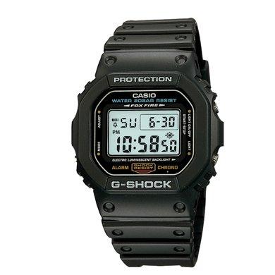 官方正品卡西歐小方表正品手表男G-SHOCK 經典款運動男表DW-5600