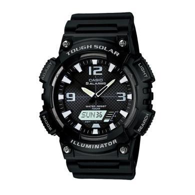 CASIO卡西歐手表男女正品情侶學生防水運動太陽能石英手表AQ-S810