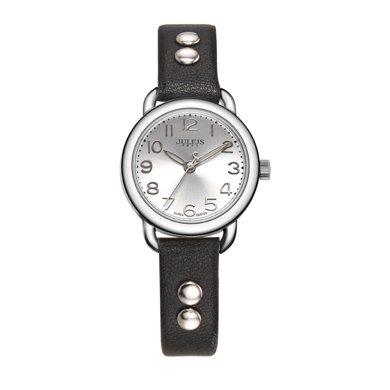 聚利時正品時尚圓形復古鉚釘表帶石英防水學生女表女士手表JA-933