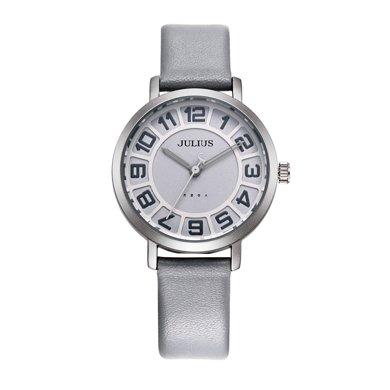 聚利時正品大表盤時尚夜光石英皮帶學生手表女表JA-939