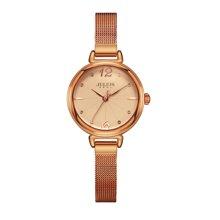 聚利时正品时尚铜质手链圆形小表盘简约石英学生手表女表JA-934