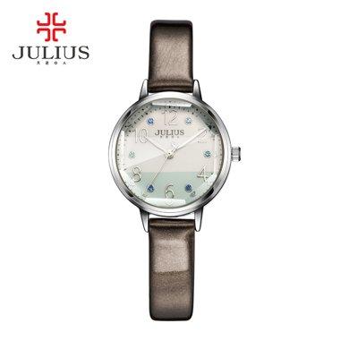 聚利時julius時尚八角鏡拼接色彩表盤學生表女表石英手表女JA-930
