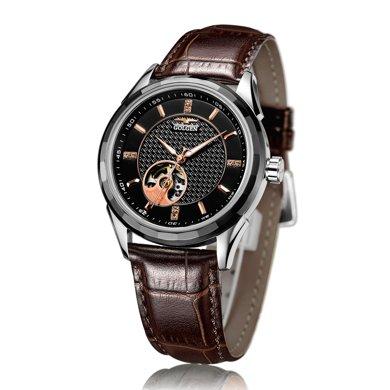 古尊(GOLGEN)手表 鏤空系列機械男表黑金GN.16095M.VRB