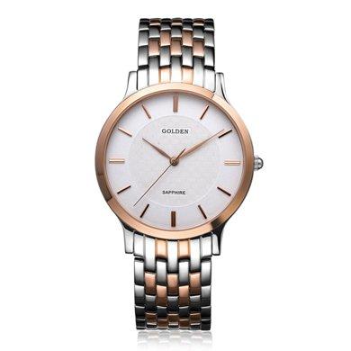 古尊(GOLGEN)手表 超薄系列石英男表玫瑰金色GN.9058M.VRS