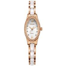 古尊(GOLGEN)手表 陶瓷系列女表水钻气质型石英手链表 玫瑰金GN.7027L.RWS