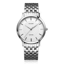 古尊(GOLGEN)手表 超薄系列石英男表白色GN.9058M.PS