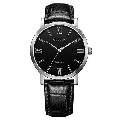 古尊(GOLGEN)手表 商務系列石英男表黑色GN.19008M.PB