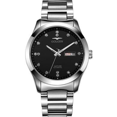 古尊(GOLGEN)手表 水鉆系列機械男表黑色GN.6097M.PB