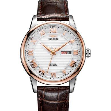 古尊(GOLGEN)手表 商務系列機械男表白色GN.16071M.VRS