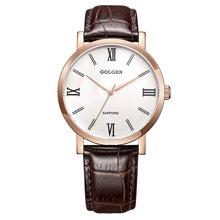 古尊(GOLGEN)手表 商务系列石英男表白色GN.19008M.RS