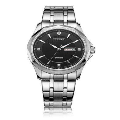 古尊(GOLGEN)手表 商務系列石英男表黑色GN.19005M.PB