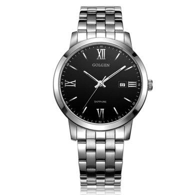 古尊(GOLGEN)手表 商務系列石英男表黑色GN.19007M.PB