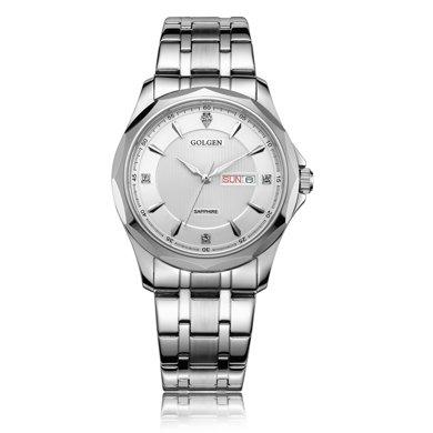 古尊(GOLGEN)手表 商務系列石英男表白色GN.19005M.PS