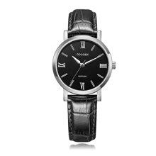 古尊(GOLGEN)手表 簡愛系列石英情侶表女表黑色GN.19008L.PB