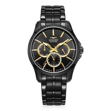 古尊(GOLGEN)手表 運動系列石英男表間金色GN.19001M.BBG