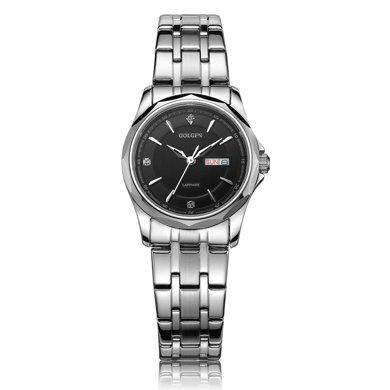 古尊(GOLGEN)手表 商務系列石英女表黑色GN.19005L.PB