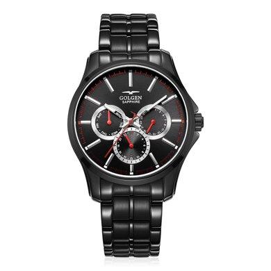 古尊(GOLGEN)手表 運動系列石英男表黑色GN.19001M.BBSR