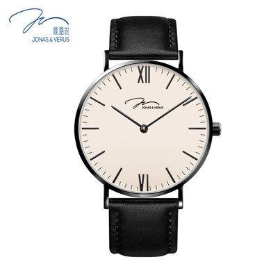 唯路時(JONAS&VERUS)手表 簡約時尚石英男表Y01646-Q3.BBXLB