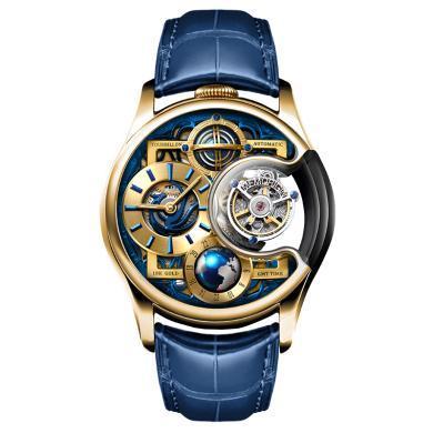 【支持購物卡】MEMORIGIN 萬希泉陀飛輪手表 機械表 男表 星恒系列尊爵版 金色