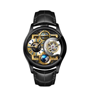 【支持購物卡】MEMORIGIN 萬希泉陀飛輪腕表 機械表星恒系列尊爵版 黑色