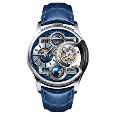 【支持购物卡】MEMORIGIN 万希泉陀飞轮手表 机械表 男表 星恒系列尊爵版 银色