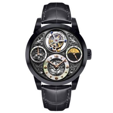【支持購物卡】萬希泉陀飛輪手表 機械表 男表星空傳奇系列尊爵版